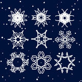 Snowflake Set. Christmas and new year concept Stock Photo