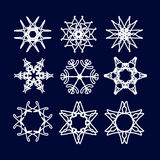 Snowflake Set. Christmas and new year concept Royalty Free Stock Image