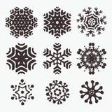 Snowflake set Stock Image
