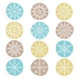 Snowflake set Royalty Free Stock Images