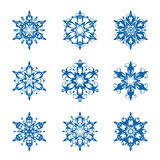 Snowflake set Royalty Free Stock Images