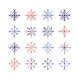 The Snowflake set Royalty Free Stock Photos