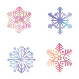 Snowflake set. Snow icon festve colection Winter holiday symbols Royalty Free Stock Photos