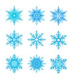 Snowflake set. On a white background Royalty Free Stock Images