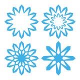 Snowflake. Set Stock Photos