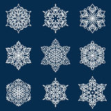 Snowflake set Stock Photography