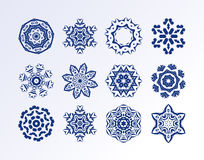 Snowflake set for winter design Stock Image