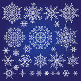 Snowflake set. Winter doodles decor Stock Photography