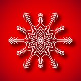 Snowflake with shadow Royalty Free Stock Image