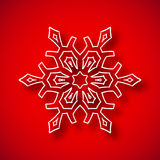 Snowflake with shadow Royalty Free Stock Photography