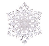 Snowflake shape. Photo on the white background Royalty Free Stock Photography