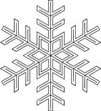 Snowflake shape Royalty Free Stock Images