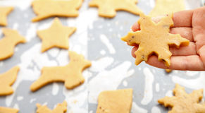 Snowflake shape Christmas cookie Royalty Free Stock Photo