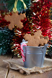 Snowflake shape gingerbread Cookies on the Stock Images