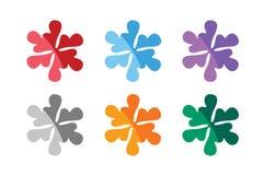 Snowflake shape vector logo icons set. Logo Stock Images