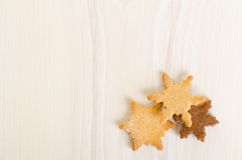 Snowflake shaped christmas cookies Royalty Free Stock Photography