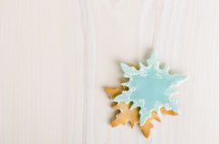 Snowflake shaped christmas cookies Stock Photo