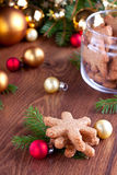 Snowflake shaped cookies Stock Photography
