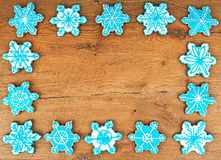 Snowflake shaped cookies. Stock Photography