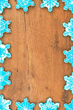Snowflake shaped cookies. Stock Photo