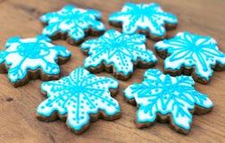 Snowflake shaped cookies. Stock Image
