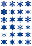 Snowflake shapes. Vector collection of snowflake shapes isolated on white background Stock Image