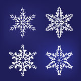 Snowflake Shapes Stock Images