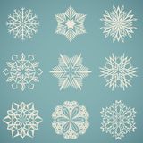 Snowflake shapes Stock Photography