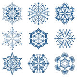 Snowflake shapes Stock Photo