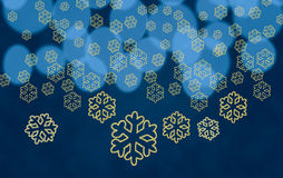 Snowflake shapes against tree lights Stock Images