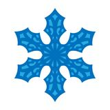 Snowflake sign. Blue Snowflake icon isolated on white background. Snow flake silhouette. Symbol of snow, holiday, cold. Weather, frost. Winter design element vector illustration