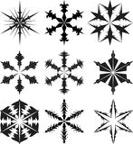 Snowflake silhouette  Royalty Free Stock Images