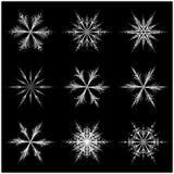Snowflake silhouette icon, symbol, design. Stock Photos