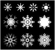 Snowflake silhouette icon, symbol, design. Winter, christmas vector illustration Stock Photos