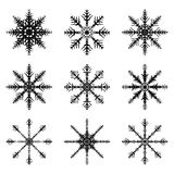 Snowflake silhouette icon, symbol, design. Winter, christmas vector illustration isolated on the white background. Stock Images
