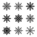 Snowflake silhouette icon, symbol, design. Winter, christmas vector illustration isolated on the white background. Royalty Free Stock Photo