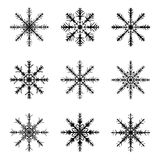 Snowflake silhouette icon, symbol, design. Winter, christmas vector illustration isolated on the white background. Royalty Free Stock Images