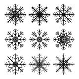 Snowflake silhouette icon, symbol, design. Winter, christmas vector illustration  on the white background. Royalty Free Stock Image