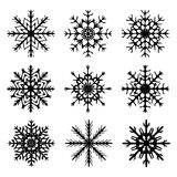 Snowflake silhouette icon, symbol, design. Winter, christmas vector illustration  on the white background. Stock Photography