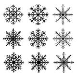 Snowflake silhouette icon, symbol, design. Winter, christmas vector illustration  on the white background. Royalty Free Stock Photos