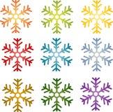 Snowflake simple illustration symbol Royalty Free Stock Photo