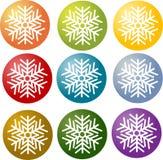 Snowflake simple illustration symbol Royalty Free Stock Photography