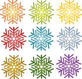 Snowflake simple illustration symbol Stock Photo