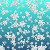 Snowflake simple seamless pattern. Abstract wallpaper, wrapping decoration. Symbol of winter, Merry Christmas holiday, Happy New Year celebration royalty free illustration