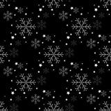 Snowflake simple seamless pattern. Abstract wallpaper, wrapping decoration. Symbol of winter, Merry Christmas holiday vector illustration