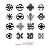 snowflake Sinal da neve Ícones do floco de neve Fotografia de Stock Royalty Free