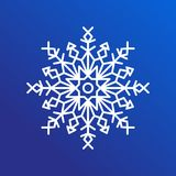 Snowflake Single Icon on Blue Vector Illustration Royalty Free Stock Photography