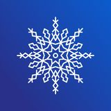 Snowflake Single Icon on Blue Vector Illustration Stock Images
