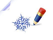Snowflake sketch Stock Image