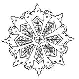 Snowflake sketch Stock Photography